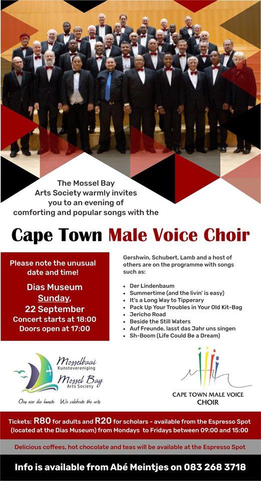 Cape Town Male Voice Choir @ Dias Museum • Mossel Bay